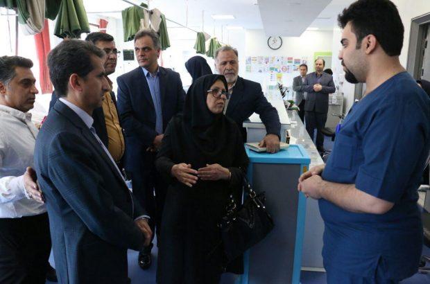 بازدید معاون پرستاری وزیر بهداشت از مراکز درمانی قم