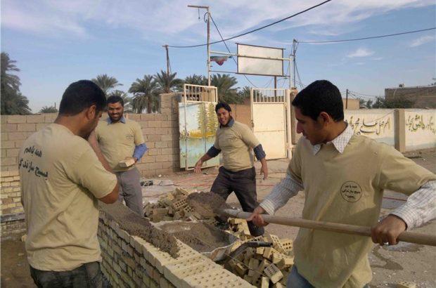 احداث خانه برای روستاییان محروم به همت جهادگران قمی