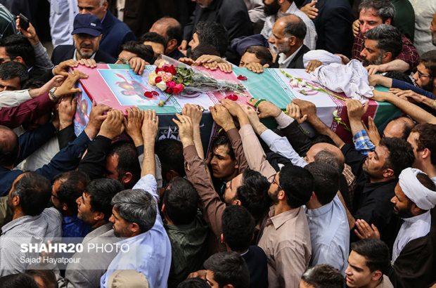 پیکر شهید جلالی نسب در قم تشییع شد