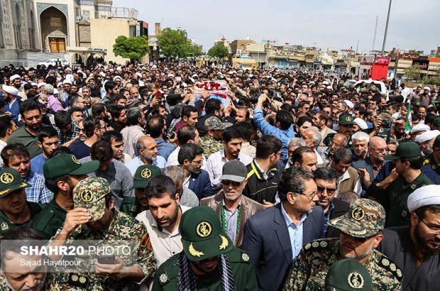 پیکر دو شهید مدافع حرم در قم تشییع شد