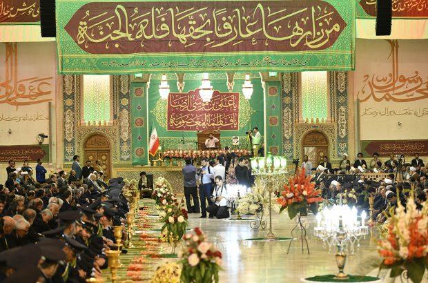 آیین خطبه خوانی به مناسبت میلاد حضرت معصومه(س) در قم برگزار شد