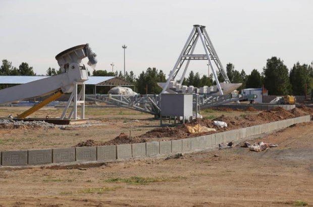 پیشرفت ۶۰ درصدی شهربازی بوستان غدیر قم