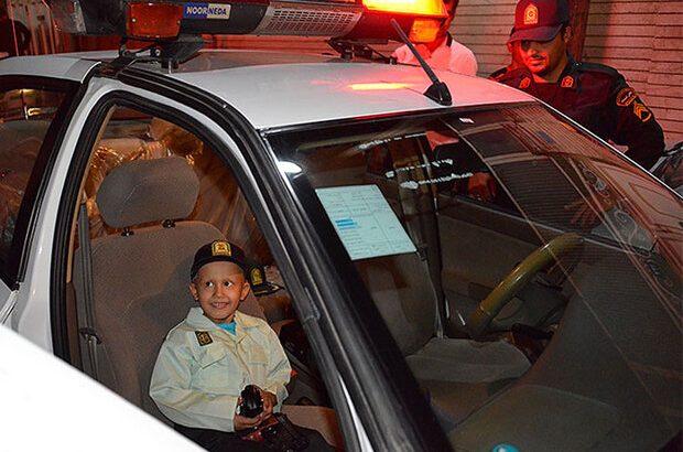 اقدام ارزشمند نیروی انتظامی قم/ پلیس قم آرزوی کودک شش ساله را برآورده کرد