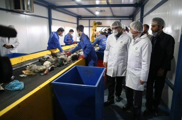 سیستم خط تفکیک و تولید کود کمپوست شهر قم به بهرهبرداری رسید