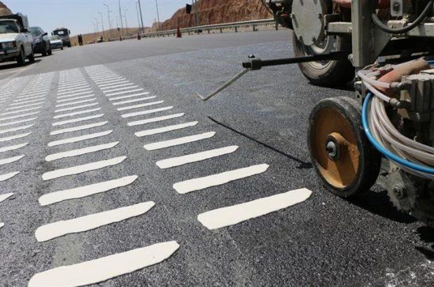 خطوط لرزاننده در هشت نقطه بزرگراه آیتالله بروجردی با هزینه ۳ میلیارد ریال اجرا شد