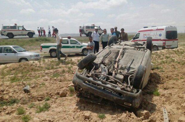 واژگونی و برخورد سه پراید یک کشته و ۹ مجروح برجای گذاشت