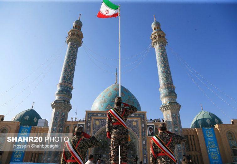 تصاویر/ «عهد سربازی» در مسجد مقدس جمکران