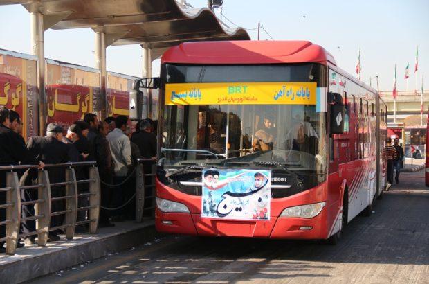 استقبال مردم قم از ناوگان اتوبوسرانی پس از افزایش قیمت بنزین