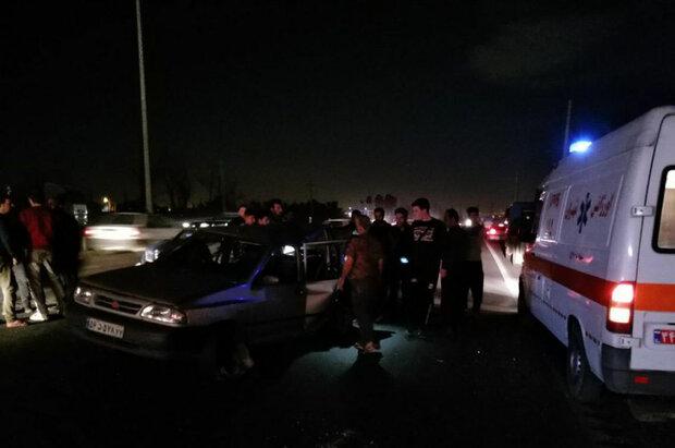 واژگونی دو خودرو با دو کشته در قم