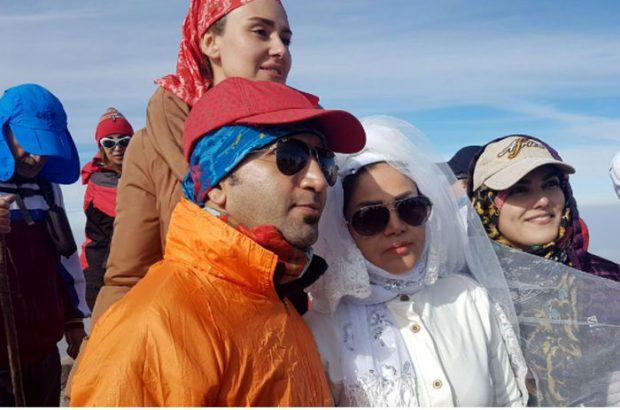 جشن ازدواج بر فراز قله+عکس