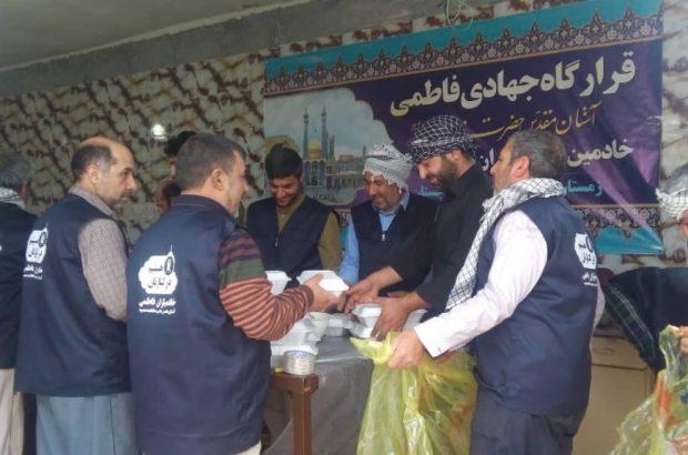 خدمت خادمیاران فاطمی به سیلزدگان سیستان و بلوچستان