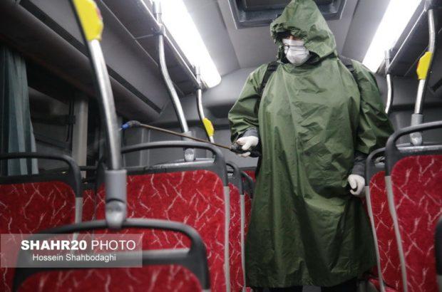 ضدعفونی مستمر اتوبوسهای شهری