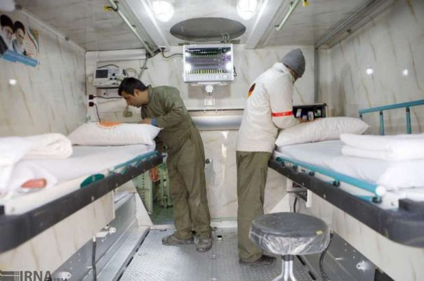 بیمارستان ۵۰ تختخوابی سیار ارتش در قم مستقر شد