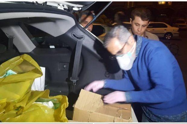 جواد رضویان بستههای بهداشتی به بیمارستانهای قم اهدا کرد