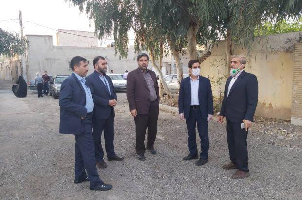 بازدید میدانی شهردار قم از پروژه خیابان شهیدان برقعی