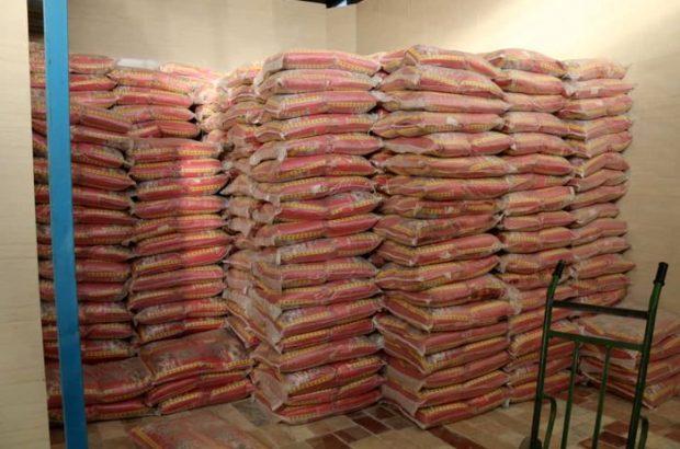 کشف بیش از ۱۵۰۰ کیلو برنج احتکار شده در قم