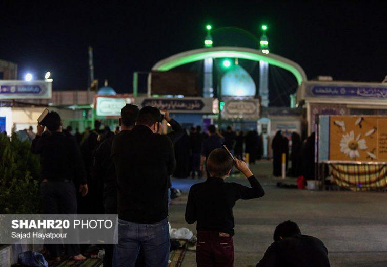 تصاویر/ احیای شب قدر در جوار مسجد جمکران