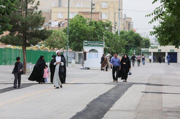 بازگشایی مسیر خیابان ارم از داخل حرم مطهر حضرت معصومه(س)+تصاویر