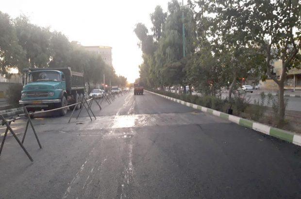 اجرای روکش آسفالت معابر فرعی خیابان مرصاد و بلوار عابدی