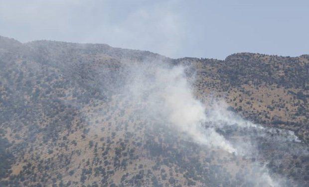 آتشسوزی مراتع علیآباد قم در ارتفاعات ۲۲۰۰ متری مهار شد