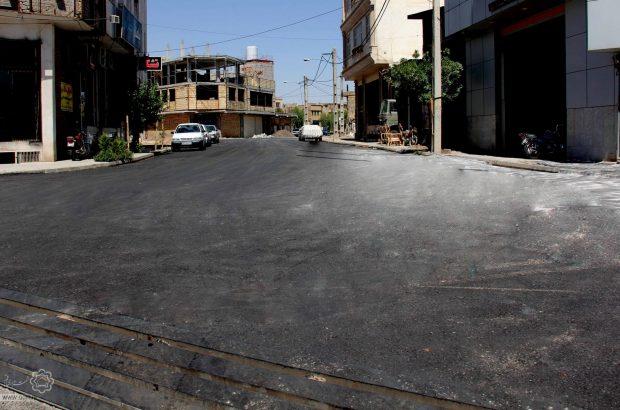 اجرای زیرسازی و آسفالت محدوده بلوار شهید کبیری قم