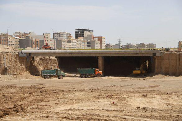 عملیات اجرایی پروژه تقاطع غیرهمسطح بلوار فردوسی و بلوار پیامبر اعظم(ص) +تصاویر