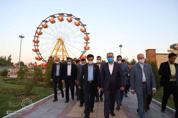 فاز نخست شهربازی بوستان علوی قم افتتاح شد +تصاویر