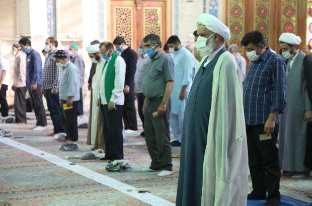 اقامه نماز عید قربان در مسجد جمکران +تصاویر