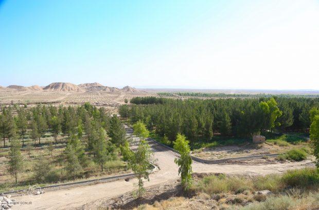 ادامه عملیات اجرایی سیستم آبیاری تحت فشار در اراضی بوستان ولایت