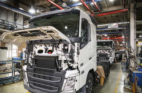 ۴۰۰ دستگاه کامیون و کامیونت در قم تولید میشود