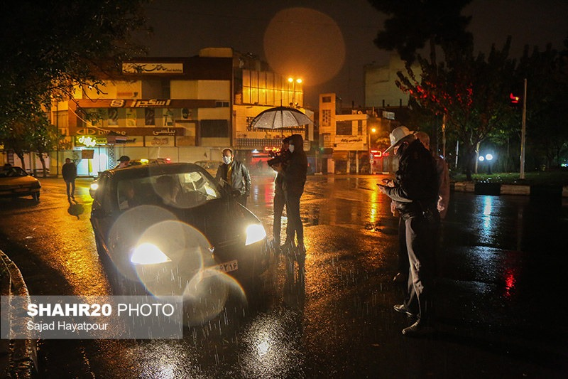 تصاویر/ آغاز اجرای طرح منع تردد شبانه در قم