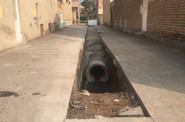 اصلاح آبگرفتگی نقاط آسیبپذیر خیابان چمران