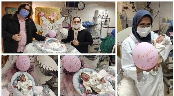 ترخیص نوزاد ۶۰۰ گرمی از بیمارستان پس از ۱۰۰ روز