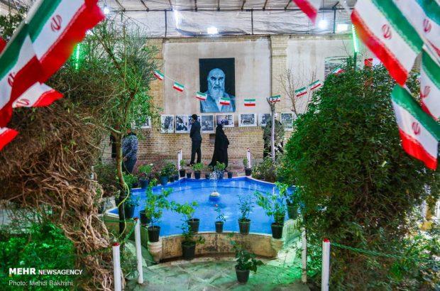 گلباران بیت امام خمینی (ره) در قم +تصاویر