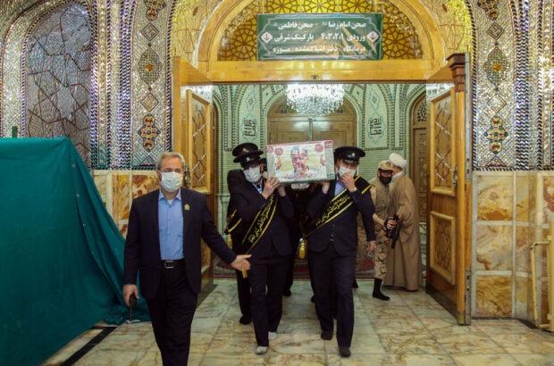 تشییع شهدای گروه تفحص در حرم حضرت معصومه(س) +تصاویر