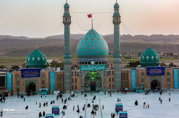 مسجد مقدس جمکران در آستانه نیمه شعبان +تصاویر