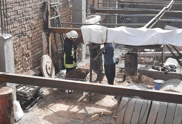 نجات کارگر قمی از قعر چاه