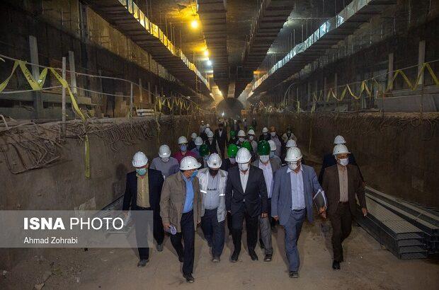 بازدید استاندار قم از پروژه مترو +تصاویر