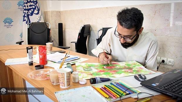 کارگاه تصویرسازی هنر انقلاب اسلامی در قم برگزار شد +تصاویر