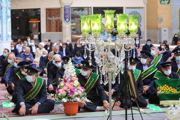 آیین خطبهخوانی خادمان حرم حضرت معصومه(س) در آغاز دهه کرامت