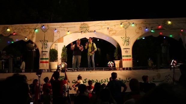 برپایی کاروان شادی در قم به مناسبت دهه کرامت