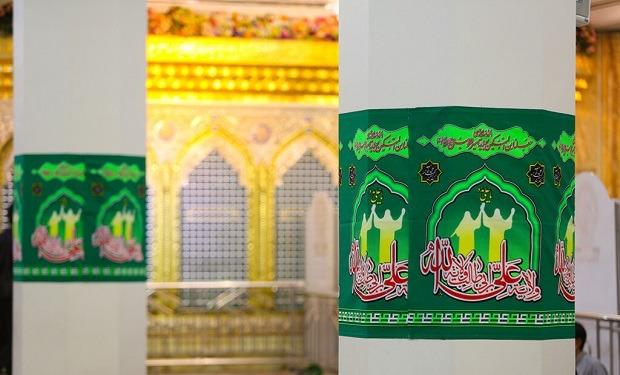 سبز پوش شدن حرم حضرت معصومه(س) در آستانه عید غدیر +تصاویر