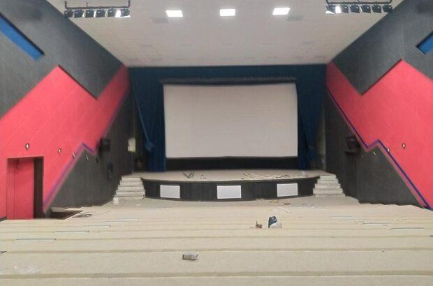 مراحل پایانی نوسازی سالن سینما تربیت قم