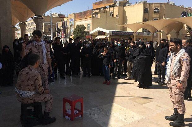 اجرای نمایش خیابانی «لشکر ۴۱ ثارالله» در میدان آستانه قم
